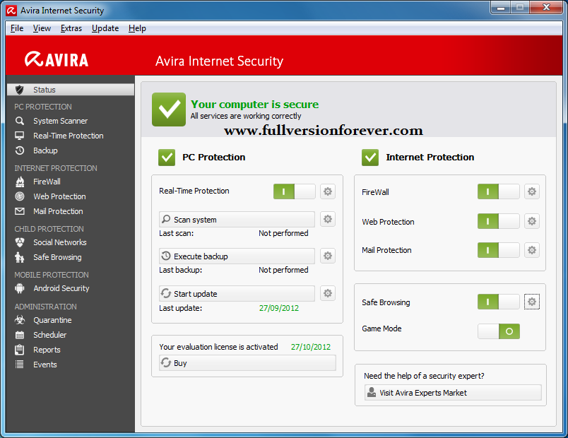 Avira Internet Security 2017 + Key to 2020 Activation