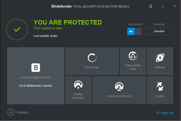 bitdefender total security 2016 license key till 2018