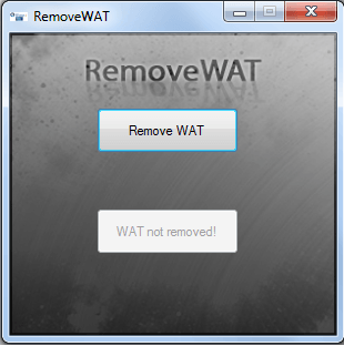 removewat windows 7 64 bit sp1