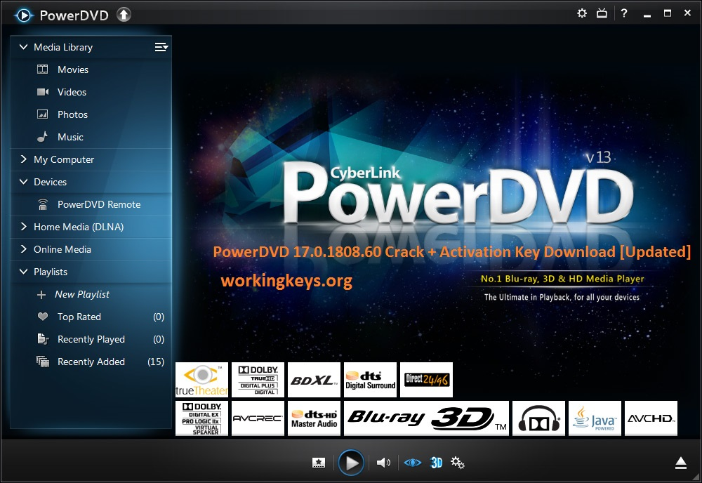 PowerDVD 19 Crack & License Key 2019 Portable Download