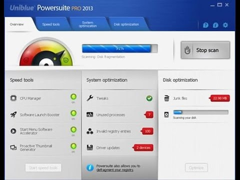 Uniblue PowerSuite 2018 Build 4.6.1.0 Crack Key Free Download