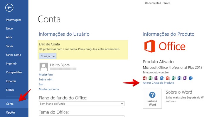 chave do office 2013 crackeado