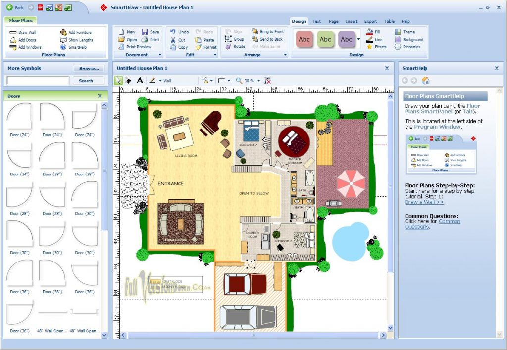 Smartdraw 2016 2017 serial key full free updated House plans drawing software