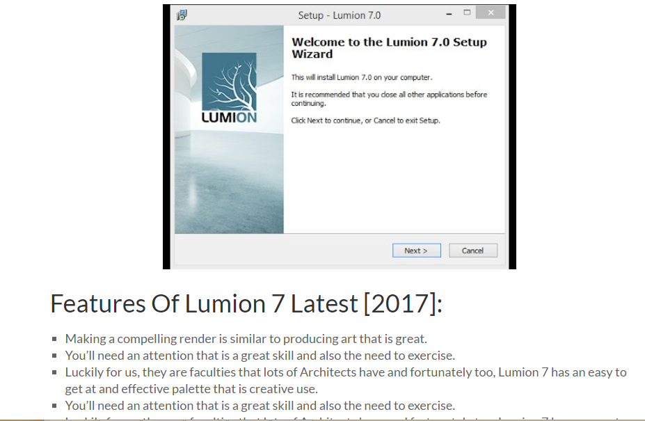 Lumion 7 Crack Plus License Key Download Free Latest [2017]